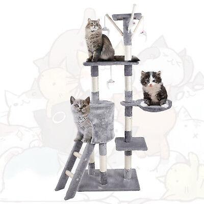 🐈JL Comfurni Cat Tree Sisal Scratching Post Kitten Scratcher Nest Tower High 3