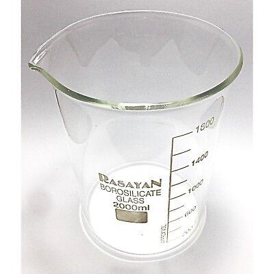 Glass BEAKER Graduated Low Form Research Grade Borosilicate, 6 sizes, 1/5/10 pcs 8