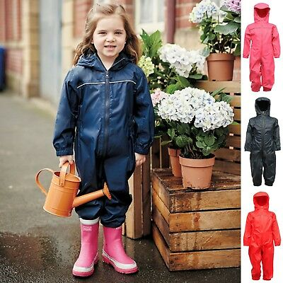 Regatta Puddle Rain Suit Waterproof All In One Childrens Kids Childs Boys Girls 2