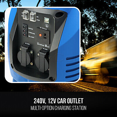 NEW GenTrax Inverter Generator Max 2.5KW Rated 2.2KW Pure Sine Portable Petrol 7
