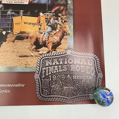 "Vtg 1999 NFR National Finals Rodeo Las Vegas PRCA Hesston 26x20"" VGC 5"