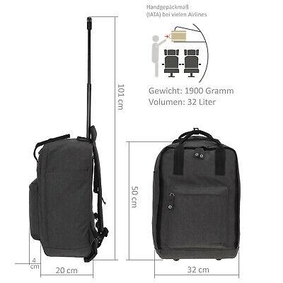 Handgepäck Rucksack Trolley Worldpack Reisetasche Weekender 30328-0100 Schwarz 10