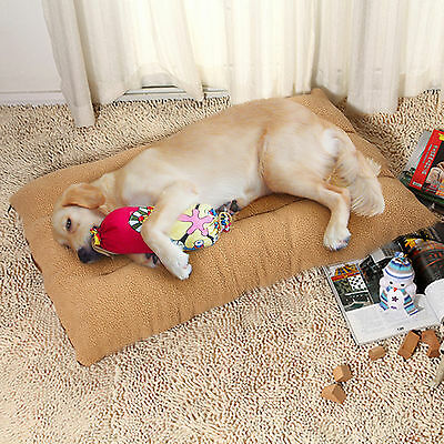 Extra Large Warm Soft Fleece Puppy Pets Dog Cat Bed Cushion Pillow Mat 100x65cm 2