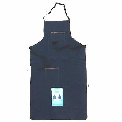 HAWK AD019 Blue Denim Apron Long Knee High Wood Working Shop Home Catering [I1-9