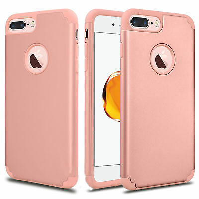 For iPhone 6S 7/8 Plus + Phone Case Luxury Shockproof Rugged Rubber Hard Cover 4