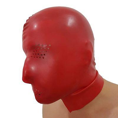 Perforierte Latex Maske aus Rubber in rot, Einheitsgröße 6