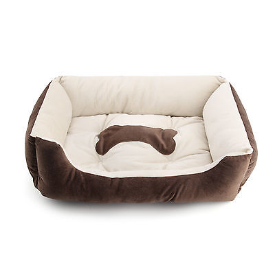 Large Luxury Washable Pet Dog Puppy Cat Bed Cushion Soft Mat Warm Basket Comfy L 4