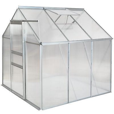 SERRE DE JARDIN aluminium polycarbonate tente abri légume plante  190x190x195cm