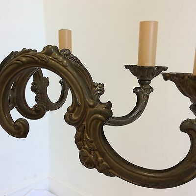 Antique Style French 8 Arm Brass Chandelier 5