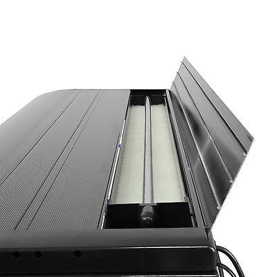 Fish Tank Cabinet Aquarium LED Light Tropical Marine Large Black 4ft 300 Litre 9
