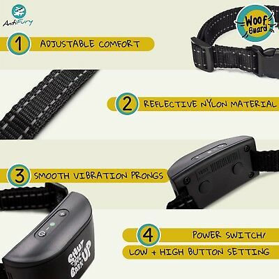 Bark Collar for Dogs Rechargeable Anti Bark Training Device Auto Stop Barking 4