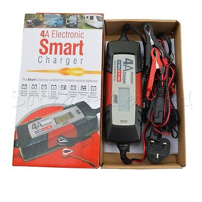 MAYPOLE Electronic Car Battery Charger 4 AMP - Fast/Trickle/Pulse Modes, MP7423 2