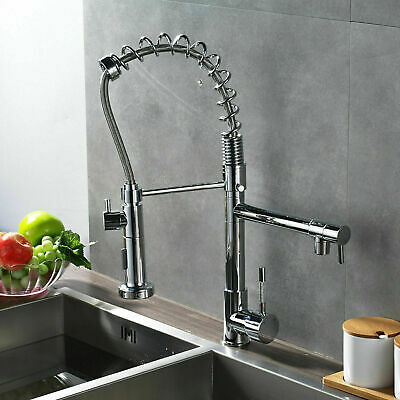 Kitchen Swivel Spout Single Handle Sink Faucet Pull Down Deck Mounted faucet 2