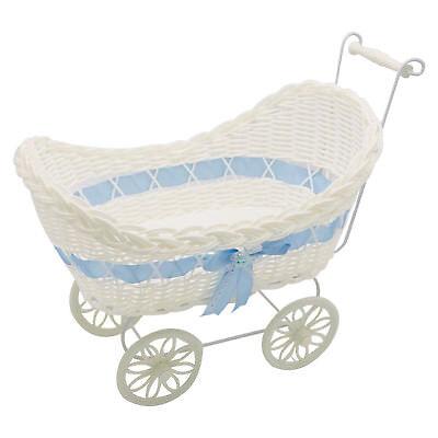 Baby Pram Hamper Wicker Basket New Born Baby Shower Party Gifts Boys Girls