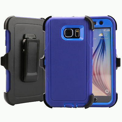 For Samsung Galaxy S6 Case Cover Rugged With (Belt Clip Fits Otterbox Defender) 3