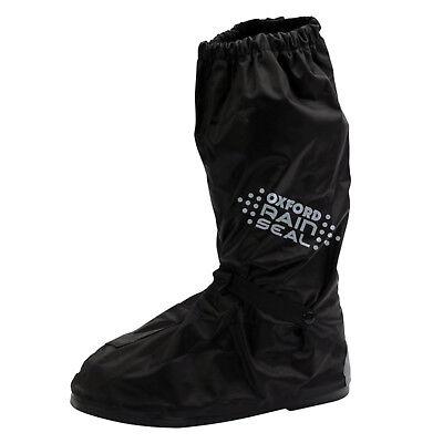 Oxford Rainseal Waterproof Motorcycle Overboots Rain Wear Over Boots - Black 2