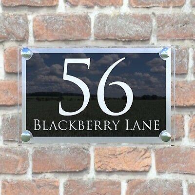 Large Contemporary House Sign Plaques Door Number 1 - 999 Address door numbers 4