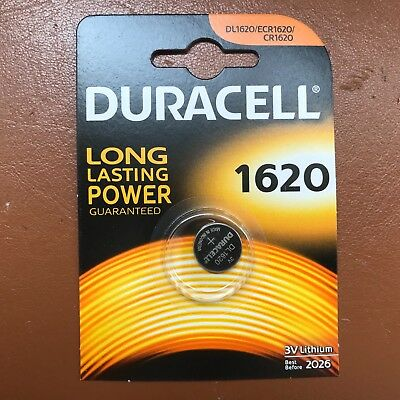 2 Duracell CR1620 Coin Cell Battery 3V Lithium DL1620 1620 BR1620 LONGEST EXPIRY