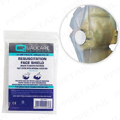 5 x CPR RESUSCITATION FACE MASK SHIELD Mouth-Mouth Emergency First Aid Refill 2