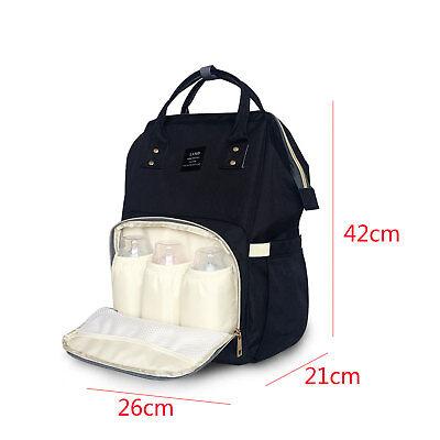 Multi-use Large Mummy Baby Diaper Nappy Backpack Mom Changing Travel Bag UK 2