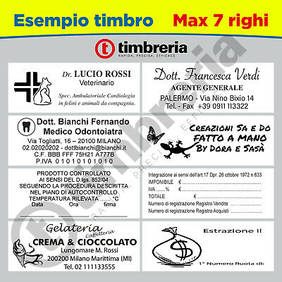 TIMBRO PERSONALIZZATO AUTOMATICO AUTOINCHIOSTRANTE COLOP C40 59x23 LOGO TIMBRI 5