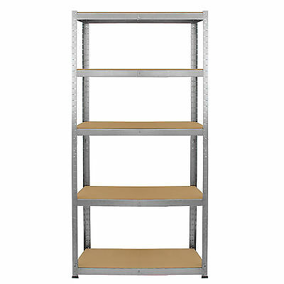 4 x Storage Shelving Garage Racking Heavy Duty 5 Tier Boltless Bays MDF Shelves 3