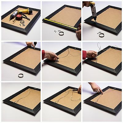 """Craig Frames Black Picture Frames & Poster Frames, 1"""" Wide, Contemporary Style 7"""