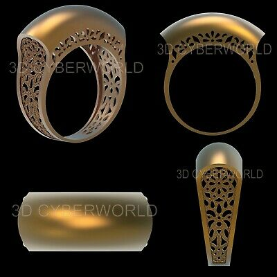 13 Pieces 3D STL Print File Jewelry Gold Silver FINGER Model set for CNC Printer 9