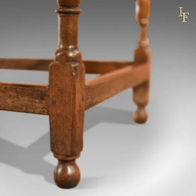 Antique Occasional Table, Victorian, Oak, English, Country, Hall, Side, c.1850 6