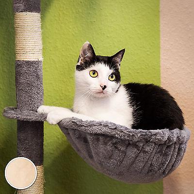 Arbre à chat griffoir grattoir jouet animaux douillet et peluché beige 6