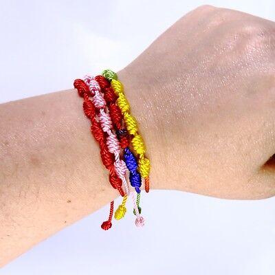 Pulsera roja de 7 nudos de la suerte para hombre o mujer de hilo bracelets 3
