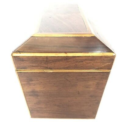 Fine Antique Regency Rosewood Satinwood Inlaid Two Section Tea Caddy C1820 3