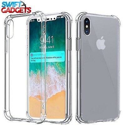 For iPhone XR Case Shock Proof Crystal Clear Soft Silicone Gel Bumper Cover Slim 4