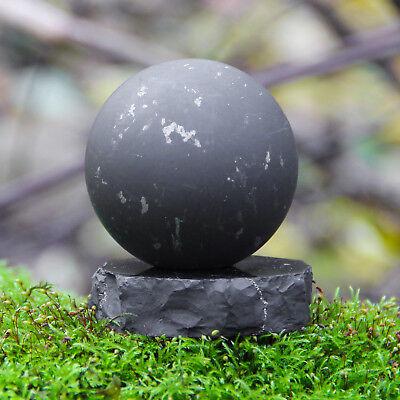 "Shungite sphere 90mm/3,54""- 30mm/1,18"" Energy ball made of rare stone Tolvu"