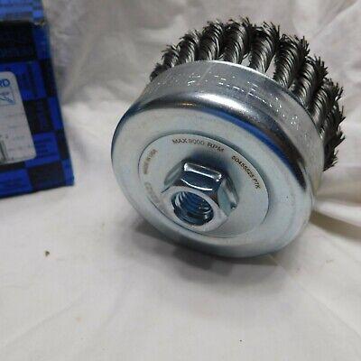"""Pferd 4"""" Dia. x 5/8-11 Thread Knot - Standard Twist Cup Brush .023 CS Wire 6"""