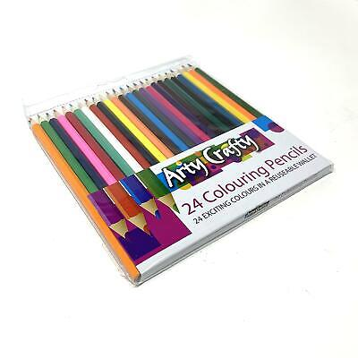 24pcs Colouring Pencils Set Drawing Painting Artist Kids Therapy Book Relax 6