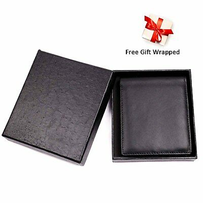 Gift Box For Men High-End Build RFID Blocking Trifold Bifold 11 Pocket ID Window 6