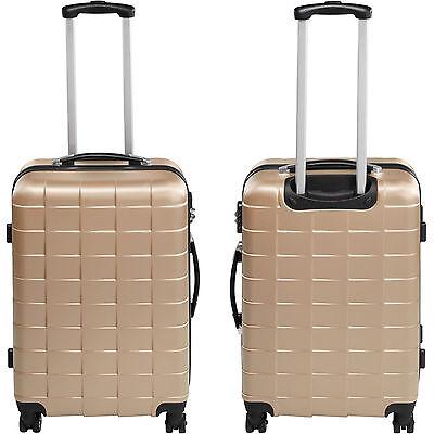 Set 3 piezas maletas ABS juego de maletas de viaje trolley maleta dura champán 4