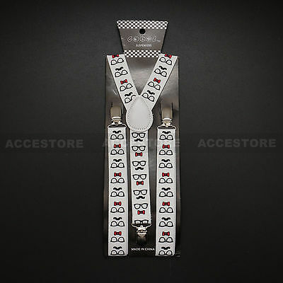 Mens Womens Fashion Clip-on Suspenders Elastic Y-Shape Adjustable Braces Colors