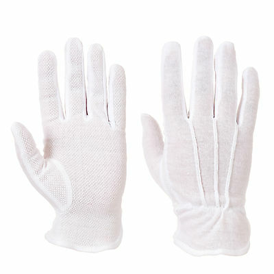 White Cotton Gloves. High Grip Palm. Restaurant Serving Gloves, Waiters,Waitress 2