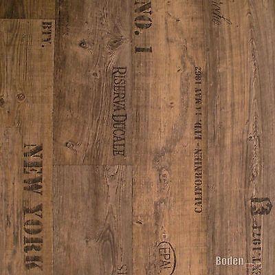 PVC Bodenbelag Rustikal Dunkel mit Aufdruck Presto 549 Breite 3 m - 1m²/11,90 € 4