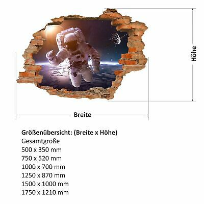 Wandtattoos Wandbilder Loch In Der Wand 176 Wandtattoo Astronaut Weltall Kosmonaut Weltraum Zimmer Mobel Wohnen Goldenservicesconservacao Com Br
