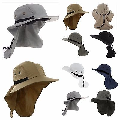Hiking Boonie Hunting Snap Hat Fishing Outdoor Brim Ear Neck Cover Sun Flap Cap For Sale Home & Garden