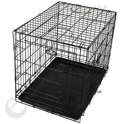 Dog Cage with Bed Training Metal Crate Puppy Pet Cat Carrier XS S M L XL XXL 6
