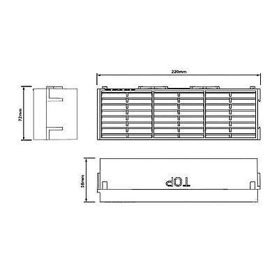 "10 x Buff Interlocking Air Brick Vents 9"" x 3"" Grille for Air Flow Ventilation 3"