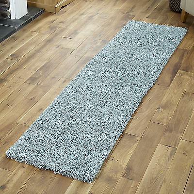 Duck Egg Blue Small X Extra Large Modern Rug - Thick 5Cm High Pile Shaggy Rugs 4