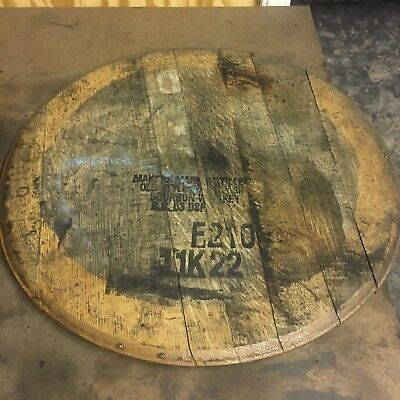 100/% Authentic Bourbon Whiskey Whisky Barrel Head//Top//Lid//End Oak LARGE STAMP!