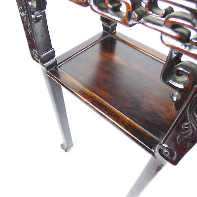 Chinese Hardwood Incense Table Marble Inset Qing Dynasty 19th C 10