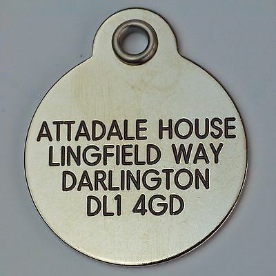 Deluxe ENGRAVED tags for Pets Brass or Nicron 2 sizes 5