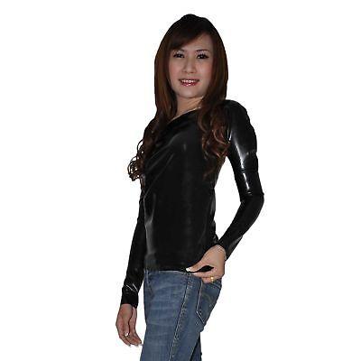 Langarm Latex Hemd aus Rubber in schwarz, Einheitsgröße 3